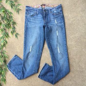 PAIGE Skyline Distressed Skinny Jeans